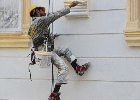 رنگ آمیزی نمای سیمانی |آجری |سنگی |در تهران |قیمت |آجر سه سانتی |دیوار |چوبی