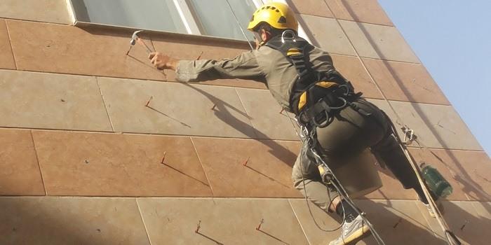 راپل | راپل کاری | راپل کار در تهران | راپل نمای ساختمان | راپل کار در کرج و تهران