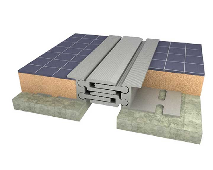 برای پوشش درز انقطاع نما از ورقها ی گالوانیزه استفاده میشود.